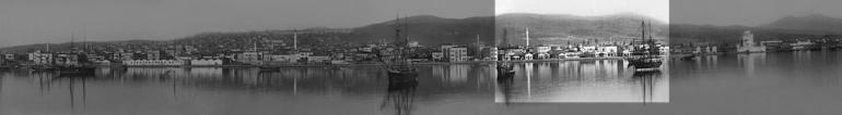 Πανοραμική άποψη της πόλης το 1885 - επιλεγμένο σημείο