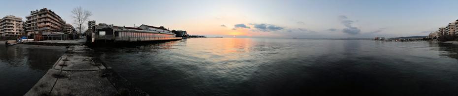 Χειμωνιάτικο ηλιοβασίλεμα μπροστά στο Shark